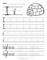 Tracing Letter I Worksheet thumbnail