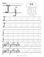 Tracing Letter J Worksheet thumbnail