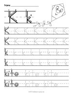Tracing Letter K Worksheet thumbnail