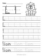 Tracing Letter L Worksheet thumbnail