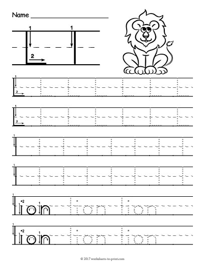 Tracing Letter L Worksheet