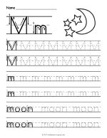 Tracing Letter M Worksheet thumbnail