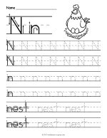 Tracing Letter N Worksheet thumbnail
