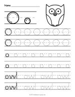 Tracing Letter O Worksheet thumbnail