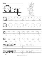 Tracing Letter Q Worksheet thumbnail