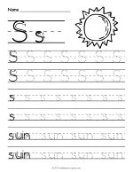 Tracing Letter S Worksheet thumbnail