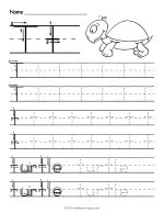 Tracing Letter T Worksheet thumbnail