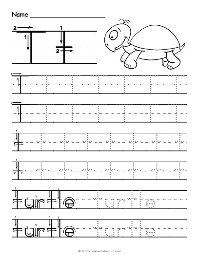Tracing Letter T Worksheet