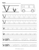 Tracing Letter V Worksheet thumbnail