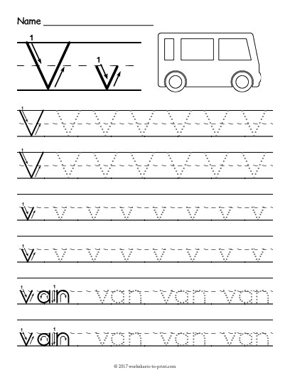 tracing letter v worksheet. Black Bedroom Furniture Sets. Home Design Ideas