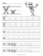 Tracing Letter X Worksheet thumbnail