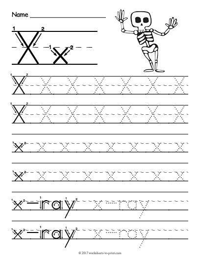Tracing Letter X Worksheet