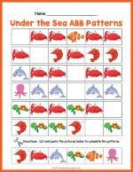Under The Sea ABB Pattern Worksheet thumbnail