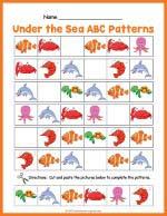 Under The Sea ABC Pattern Worksheet thumbnail
