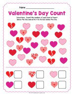 Valentines Day Counting Worksheet thumbnail